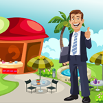 Happy Businessman Rescue Game