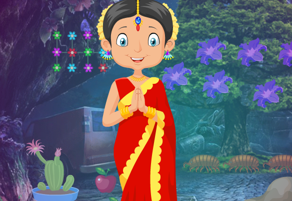 Games4King Traditional Indian Girl Rescue