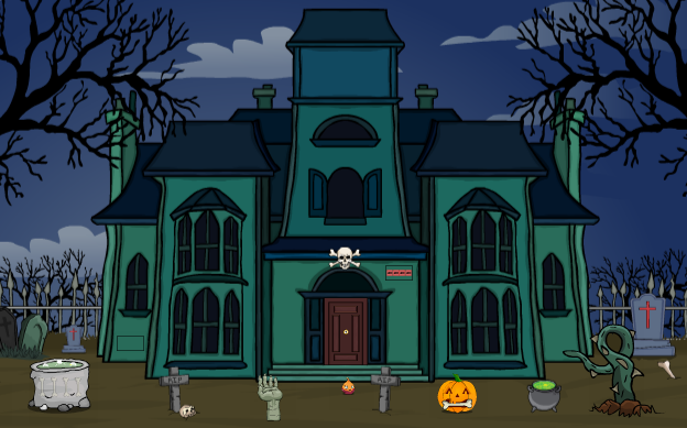 Games2Jolly Scary Ghost House Rescue