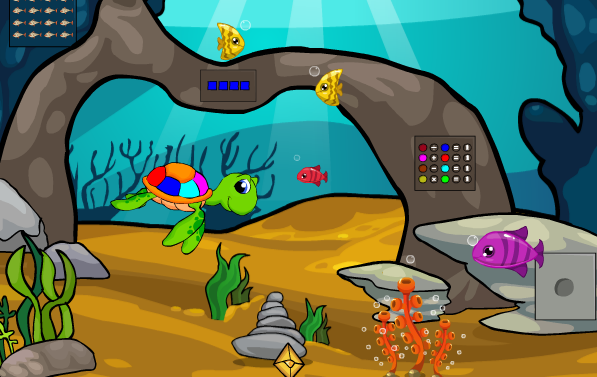 Games2Jolly-Underwater Gold Treasure Escape