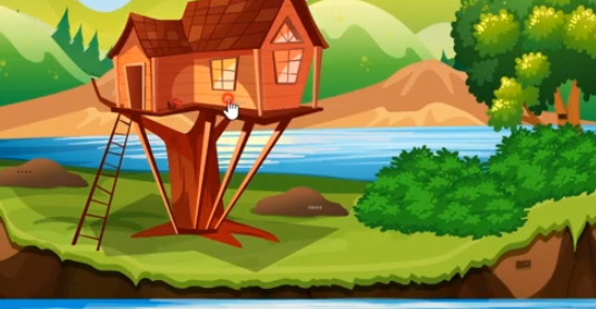 GenieFunGames Lake Side Tree House Escape