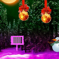 WowEscape Christmas Red Ball Forest Escape